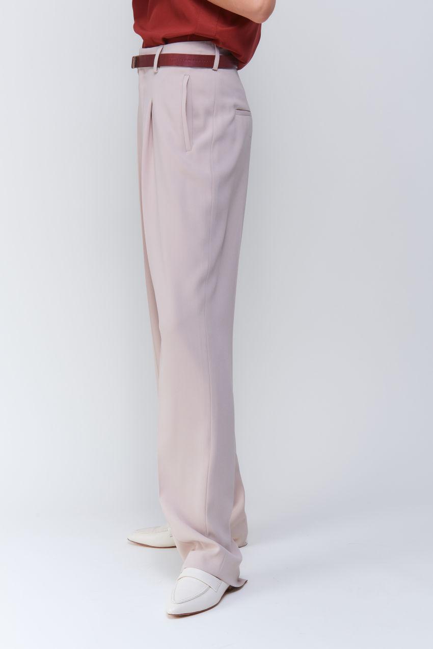 Sophisticated wide-leg crêpe trousers