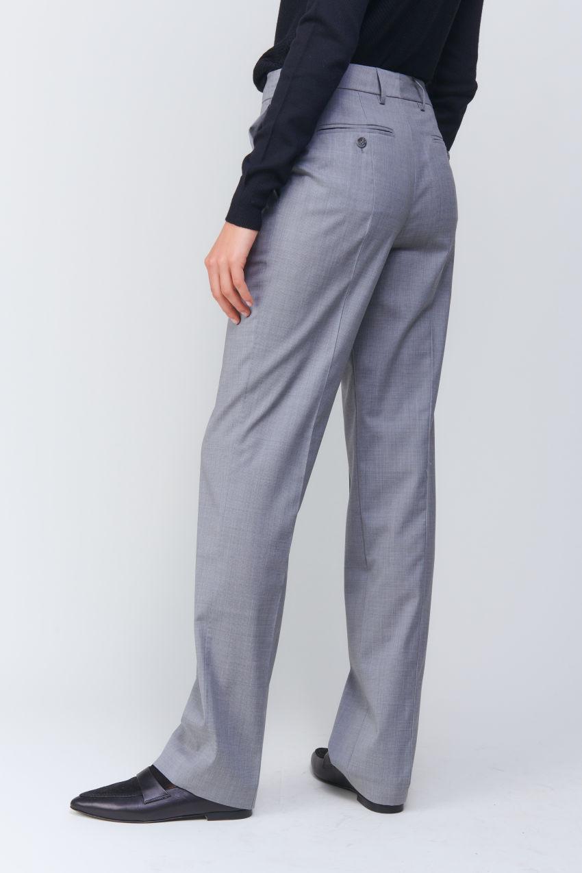 Klassische Straight Fit Hose in Super 100 Qualität
