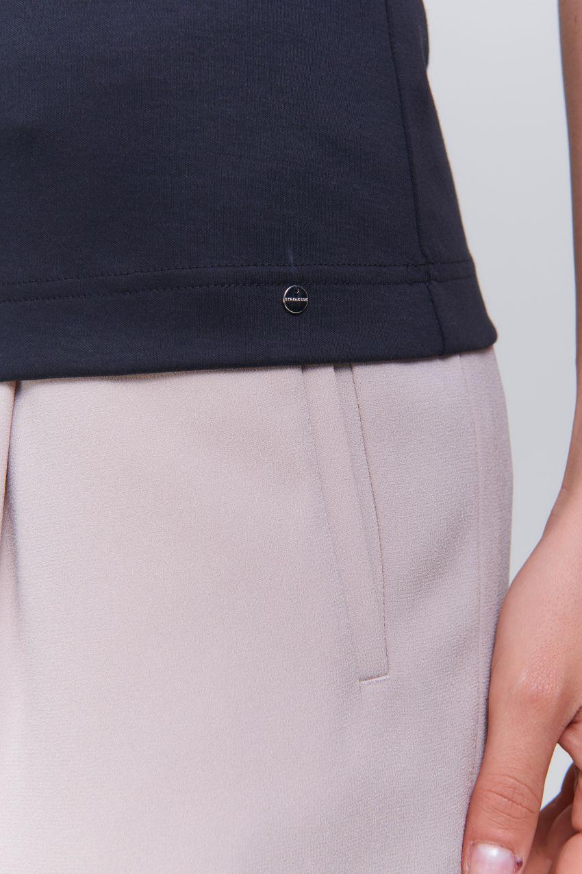 Ärmelloses Top aus Interlock Baumwolle
