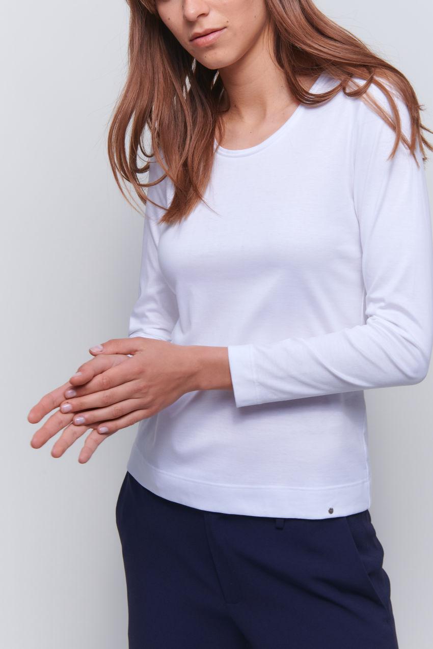 Langarm Shirt aus Interlock Baumwolle