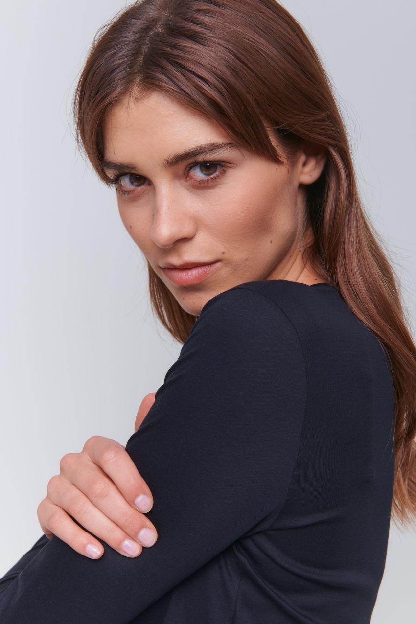 Longsleeve shirt in interlock cotton