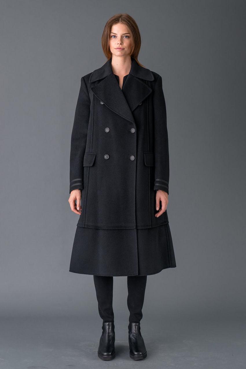 Mantel aus luxuriösem Wolle Doubleface