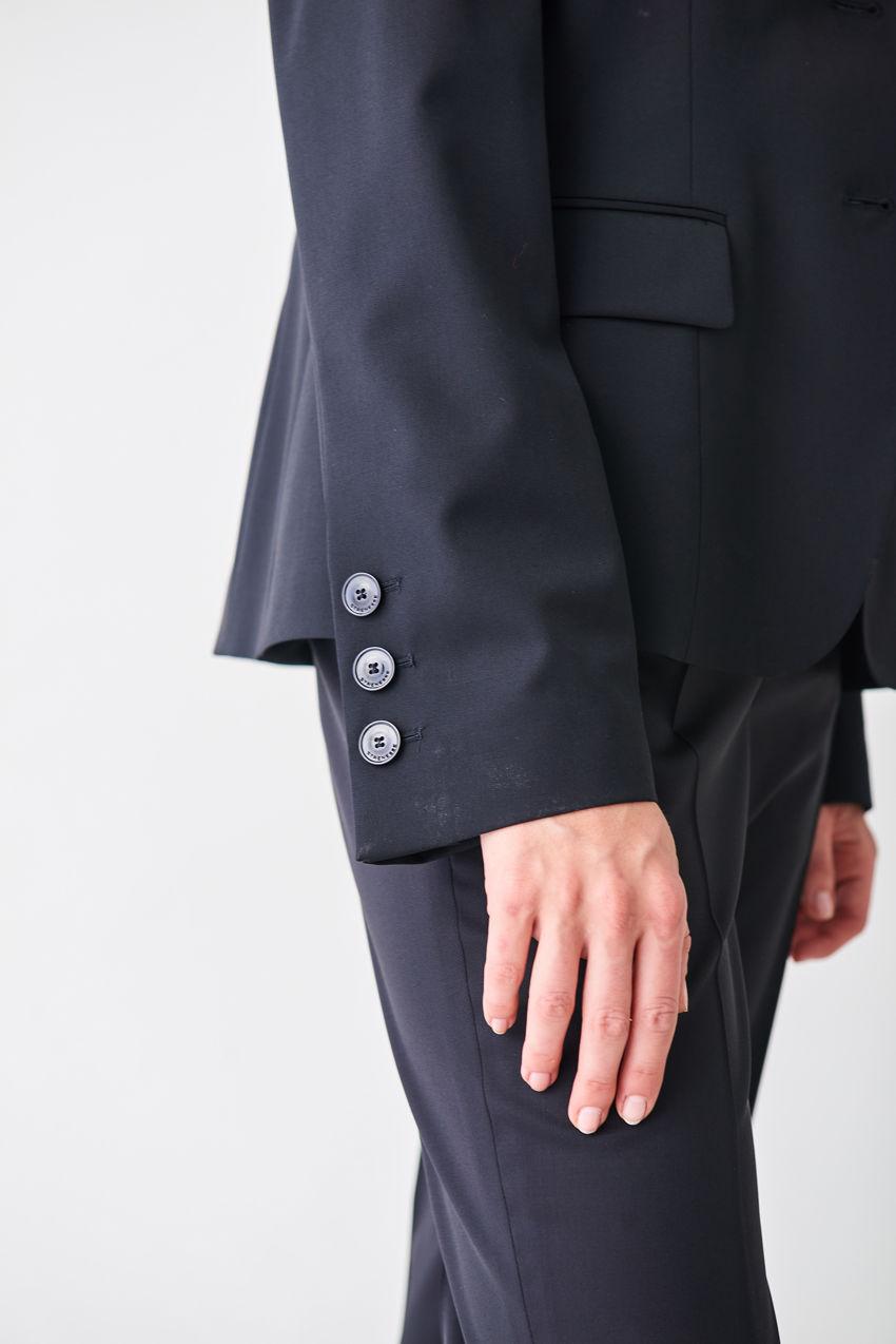 Taillierter Blazer aus Wollgabardine