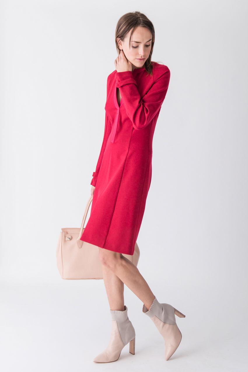 Tageskleid aus Jersey in Punto Milano Qualität