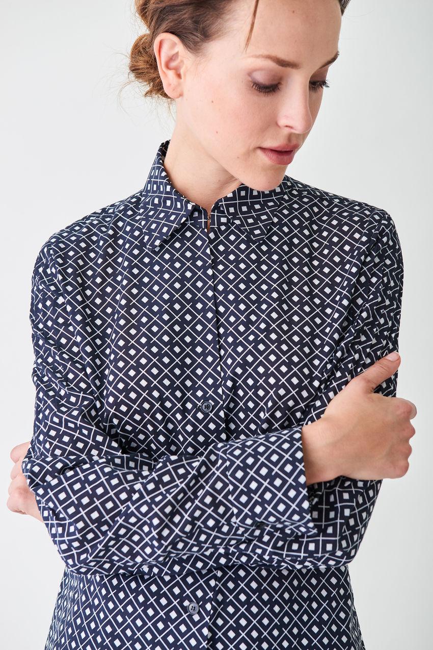 Klassische Bluse aus Popeline