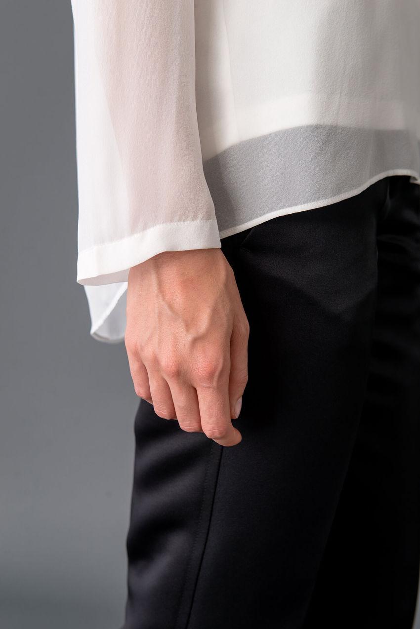Charmante Bluse aus Seiden Georgette