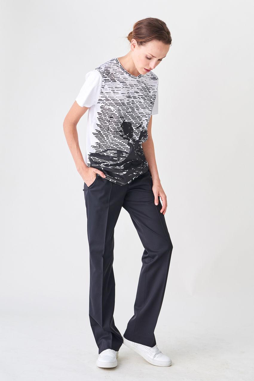 Schmale Anzughose mit Hüftsitz