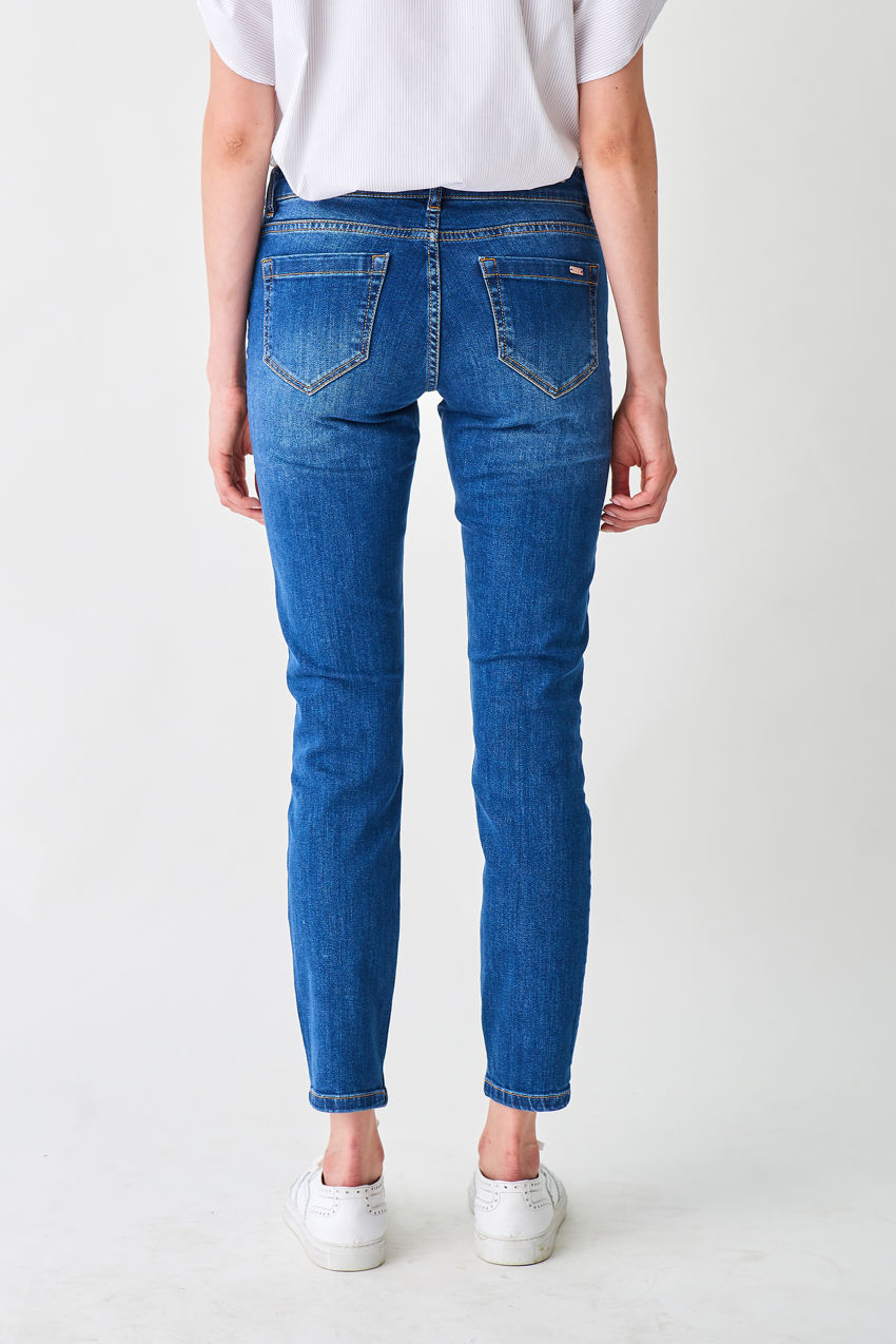 Stylische 5-Pockets-Jeggings in Indigoblau