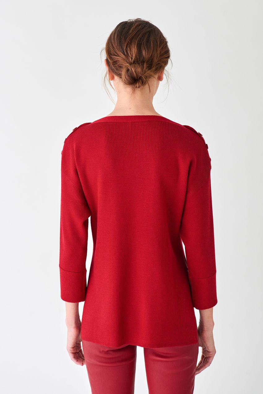 Locker geschnittener Pullover aus Kaschmir-Blend