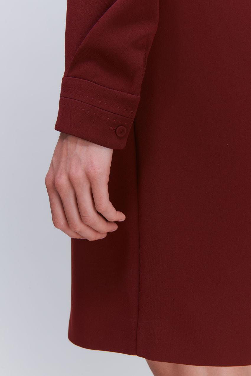 Versatile long sleeve dress in crêpe