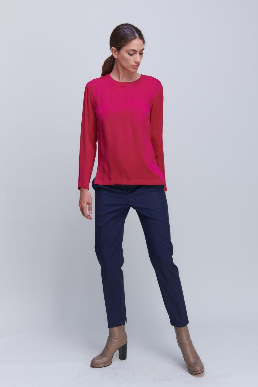 Blusenshirt aus luxuriösem Seiden Stretch