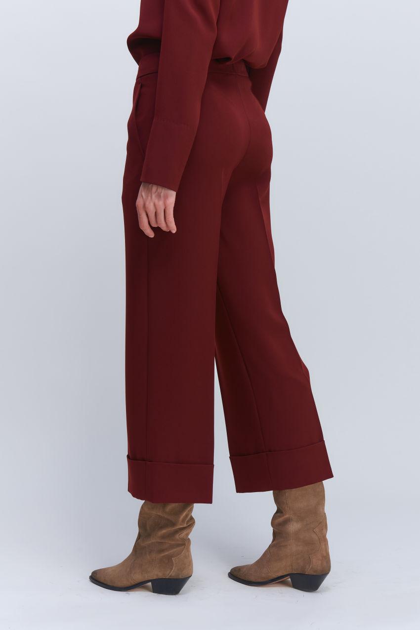 Trendy Culotte Hose in Crêpe