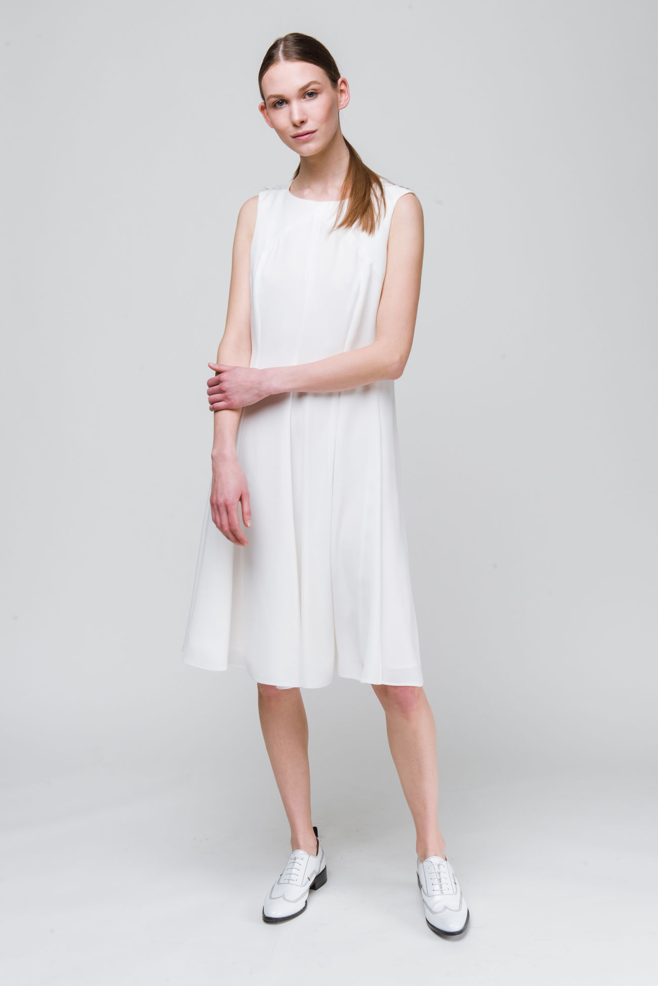 Crêpe-satin dress