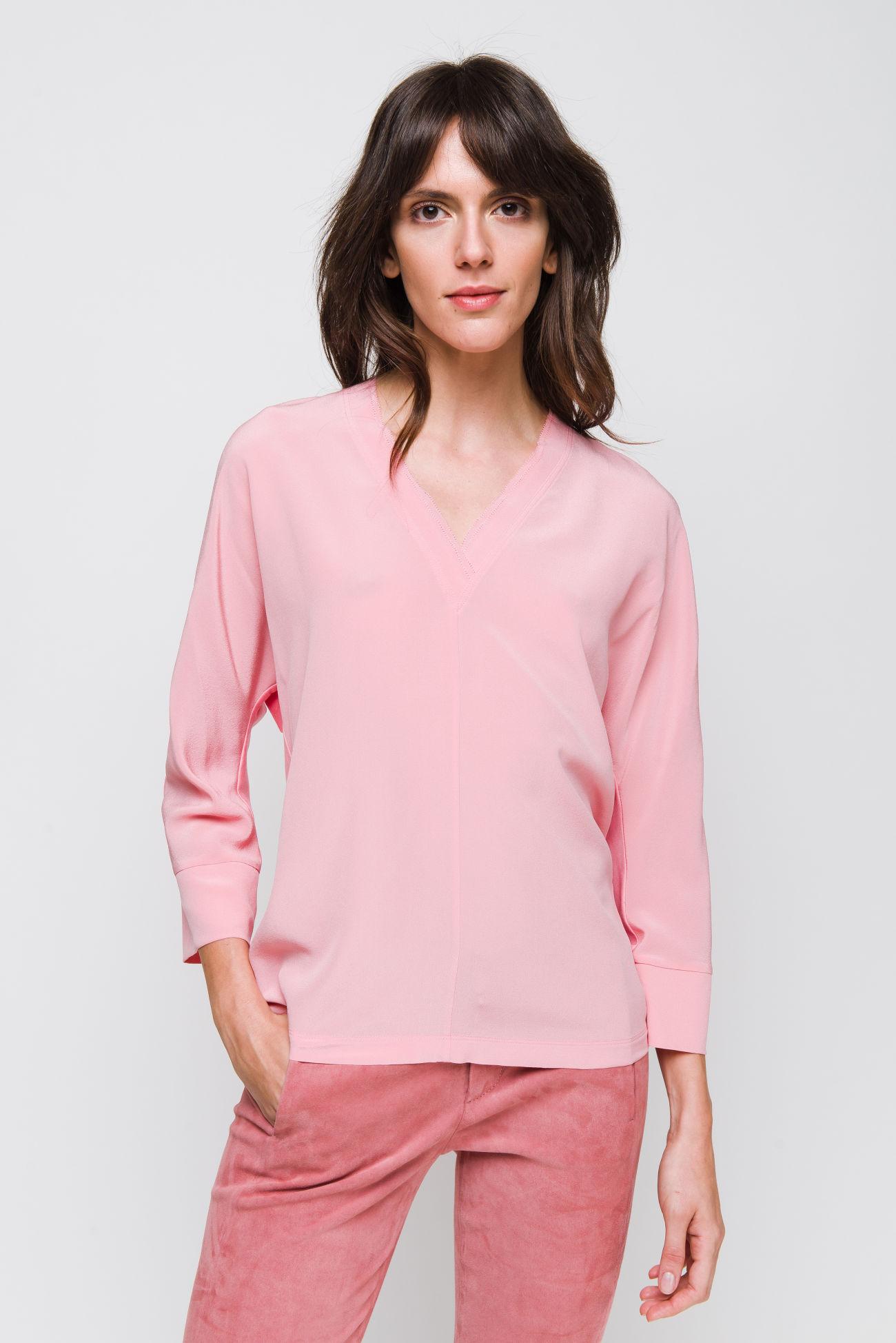 Blouse-shirt in silk crêpe
