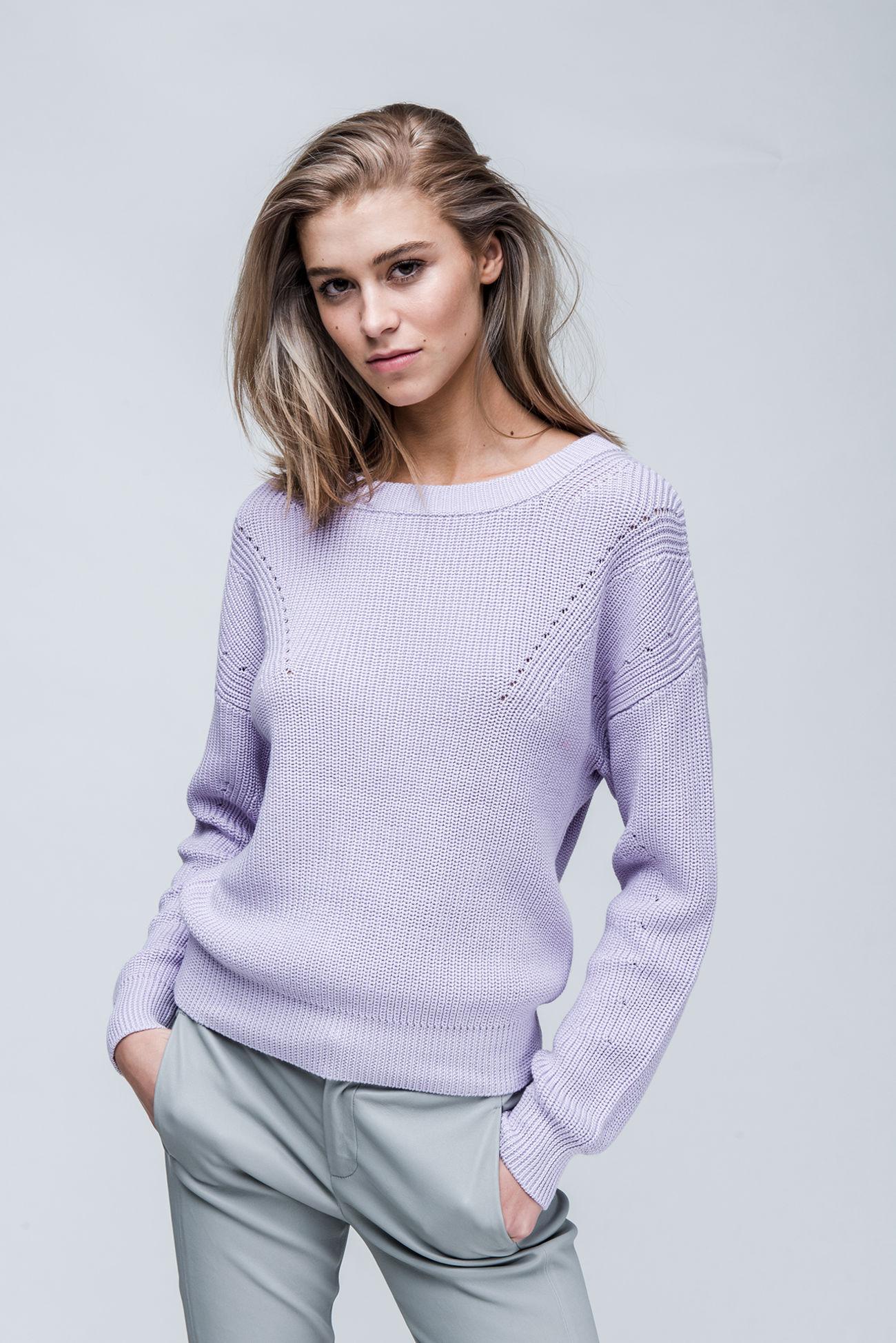 Chunky cotton mix sweater