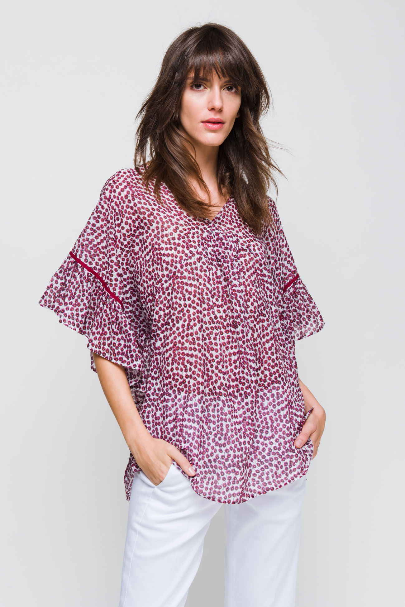 Blouse in cotton-voile