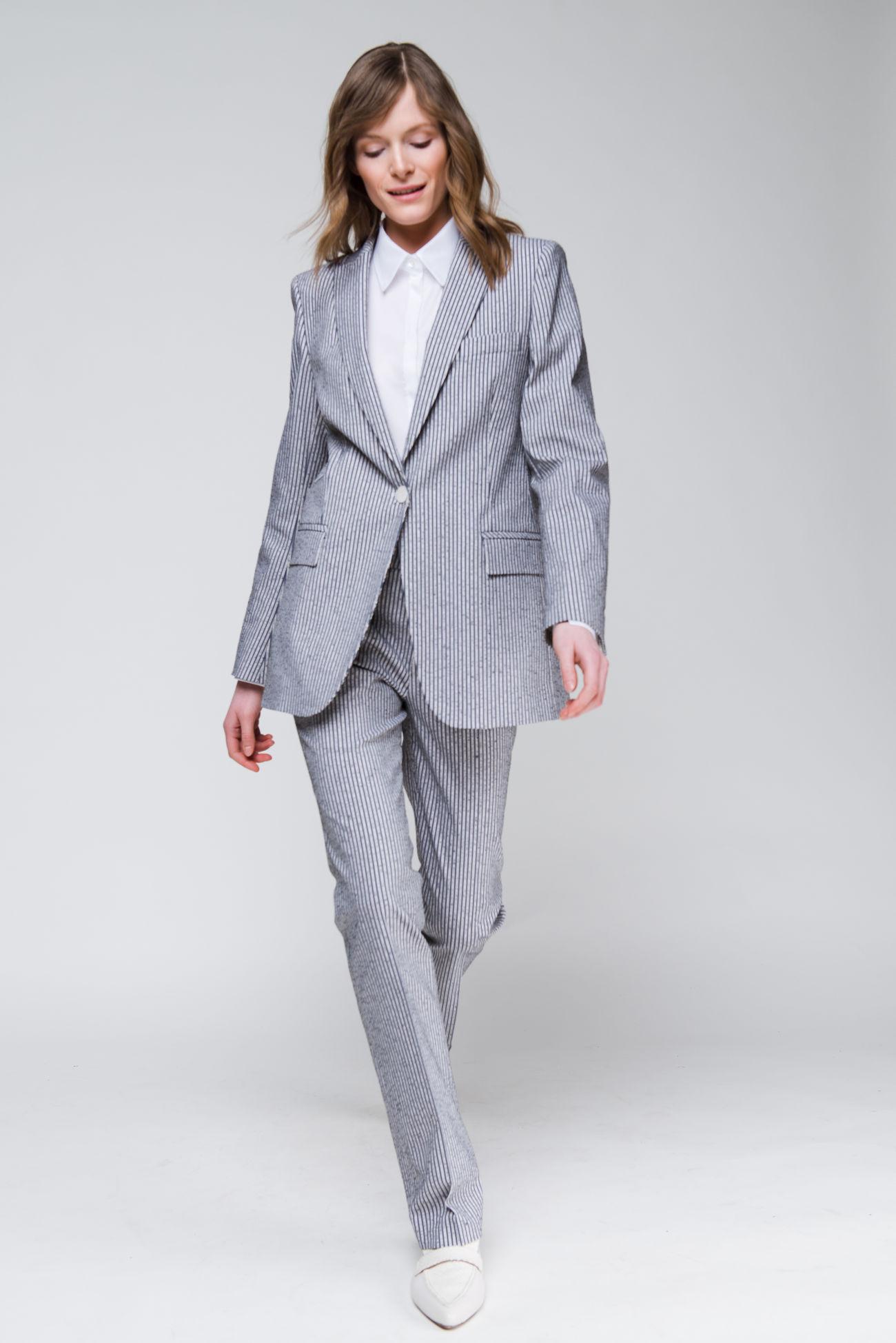 Frisé-pinstripe trousers