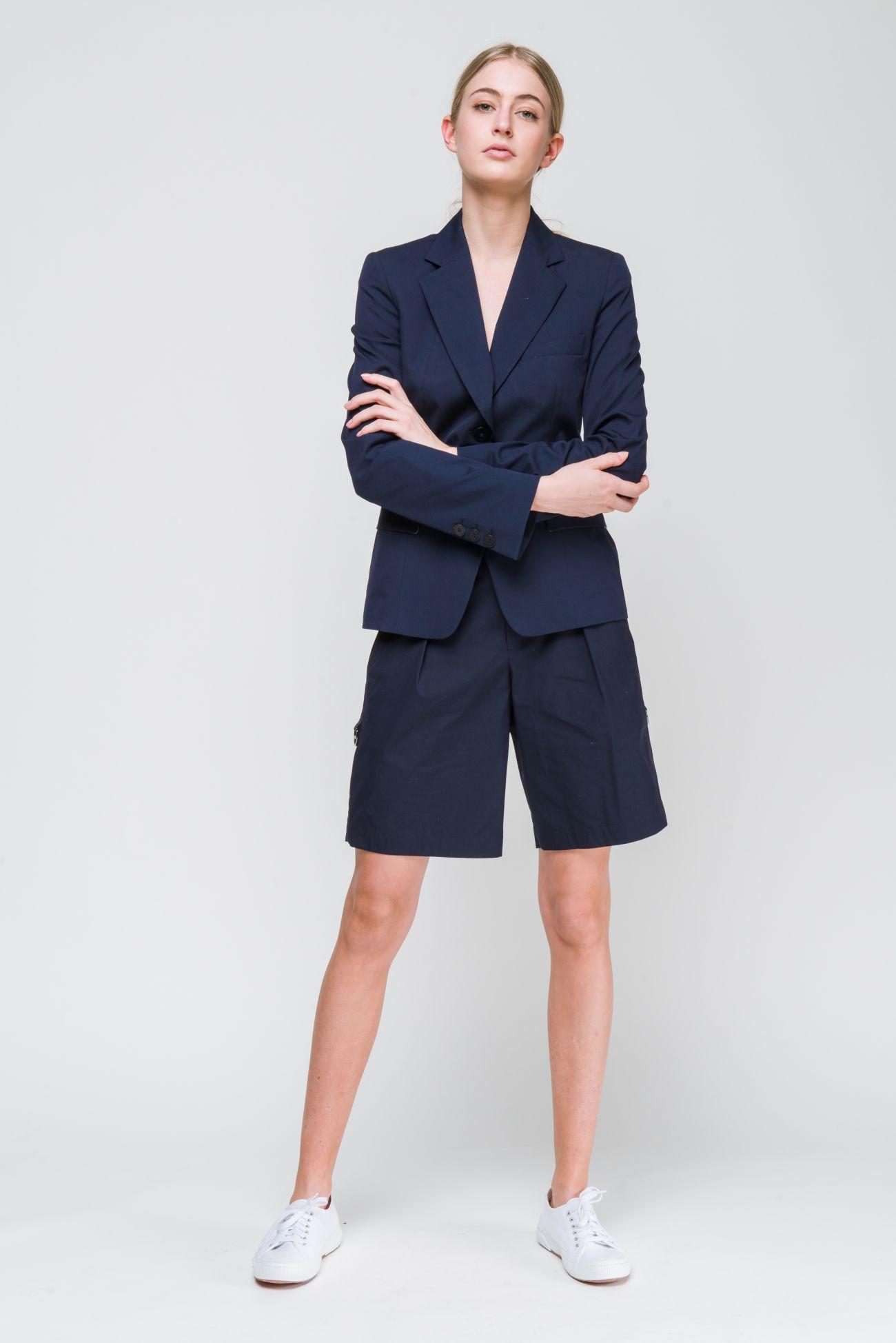 Shorts in poplin-stretch