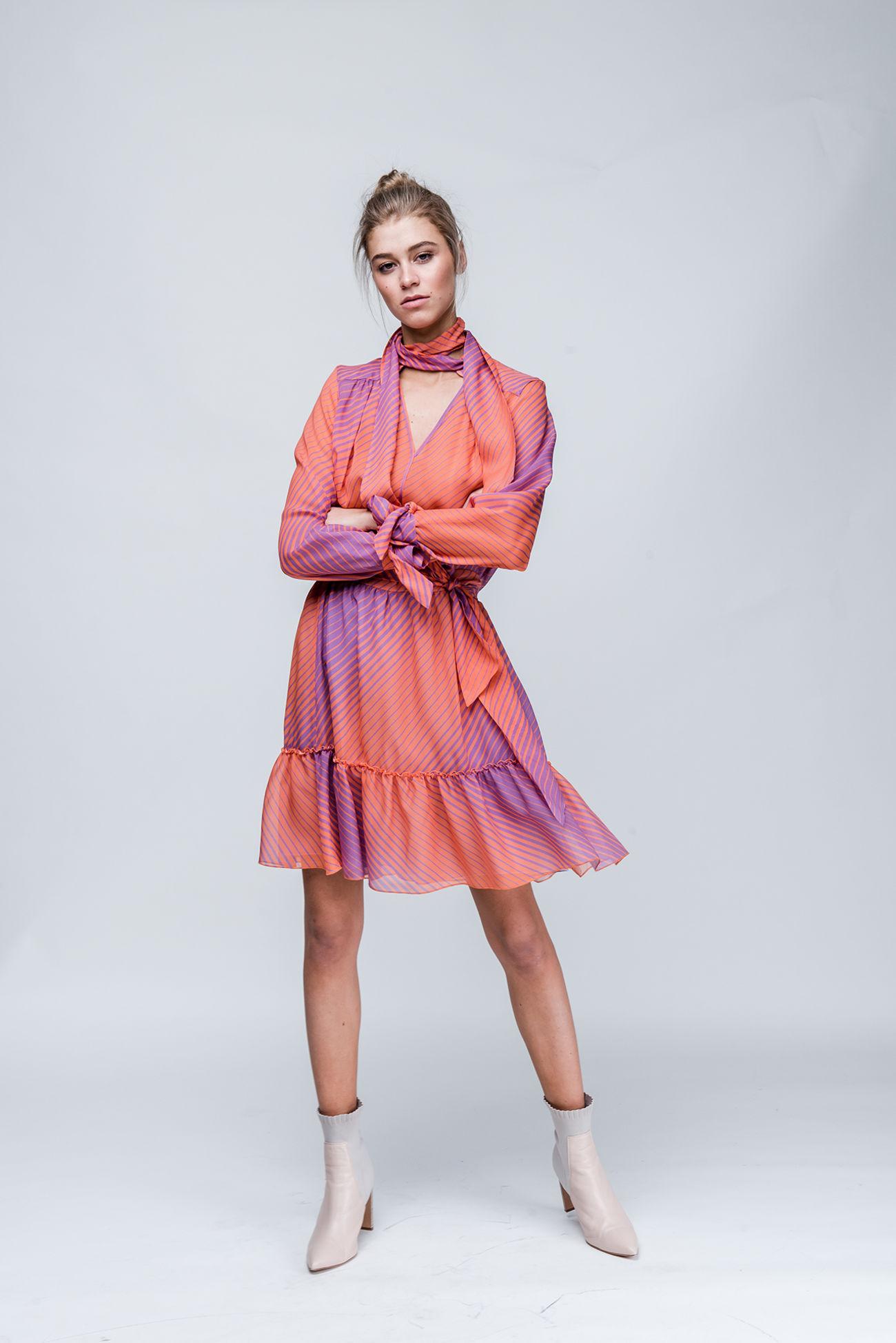 Silk skirt with print