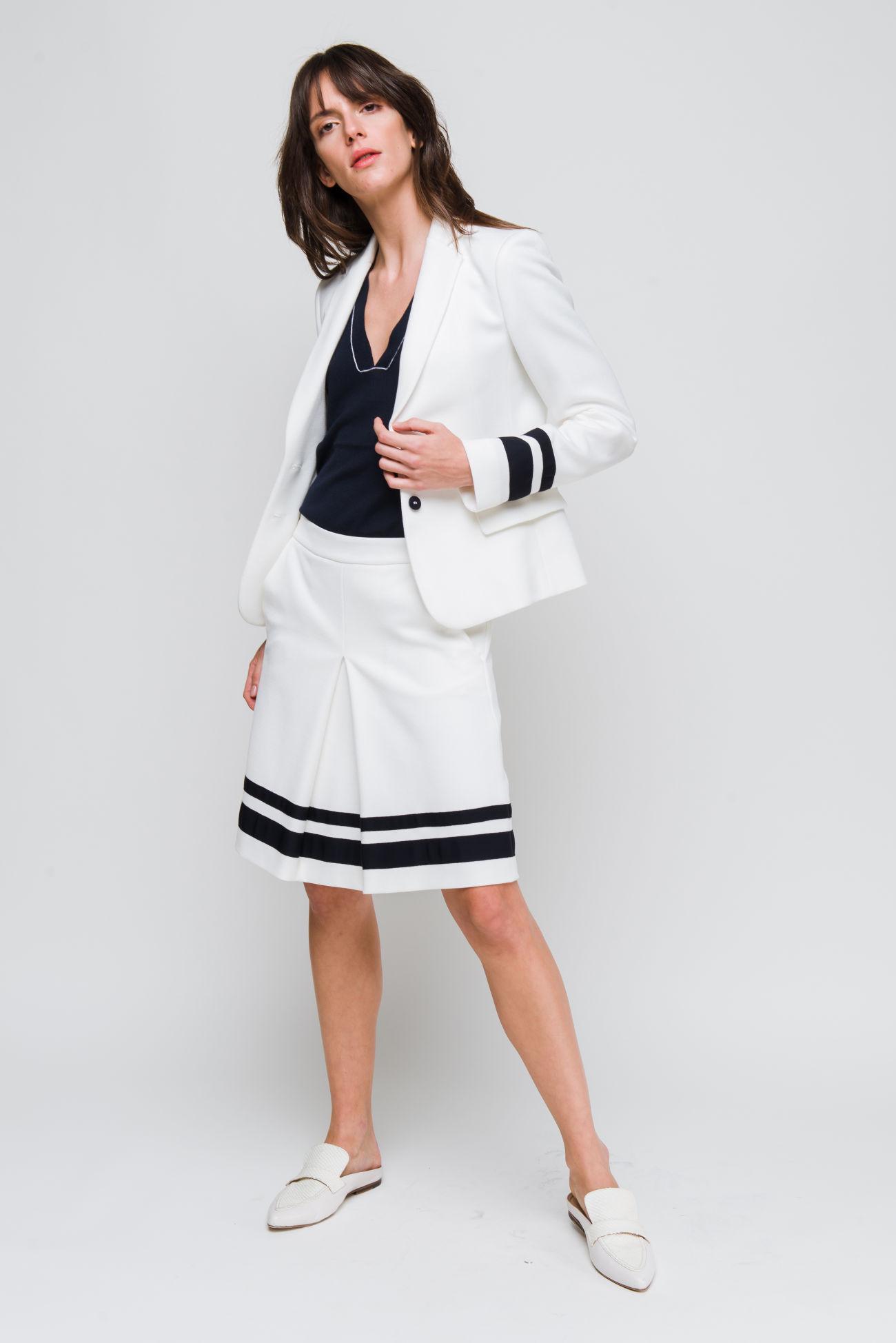 Skirt in piquet-jersey
