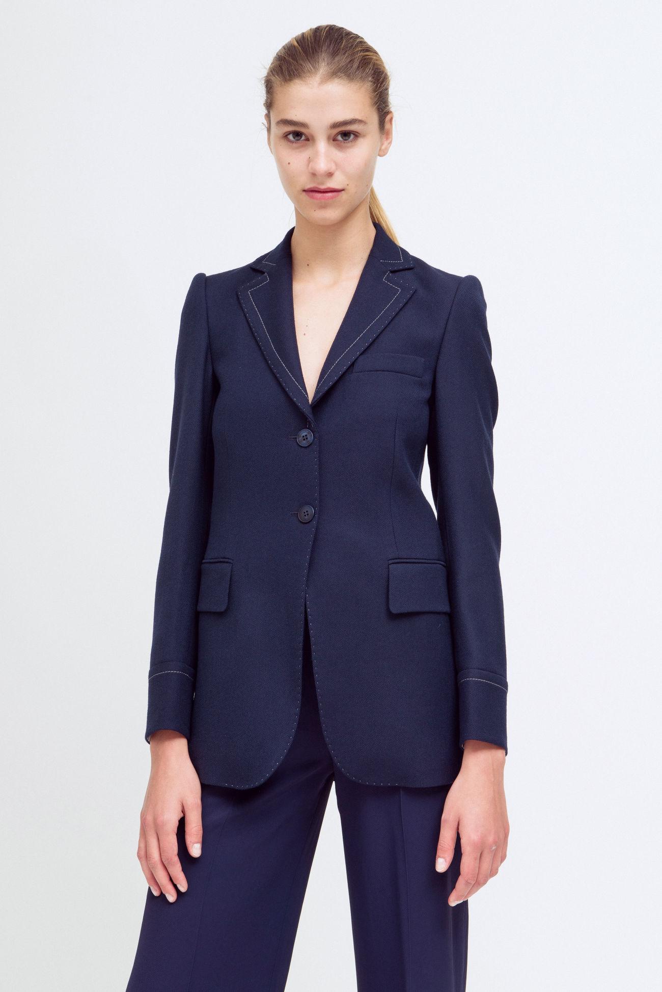 Two-button blazer made of a virgin wool blend