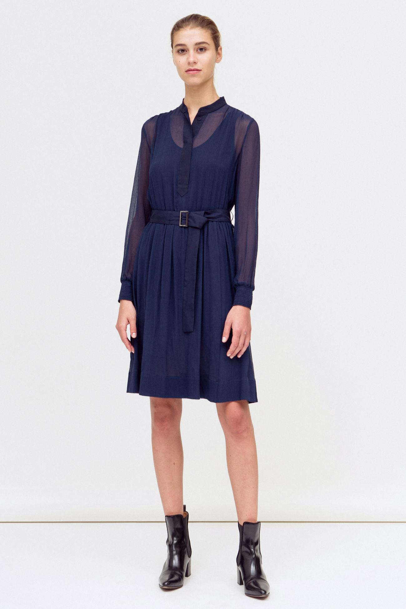 Dress with waist belt