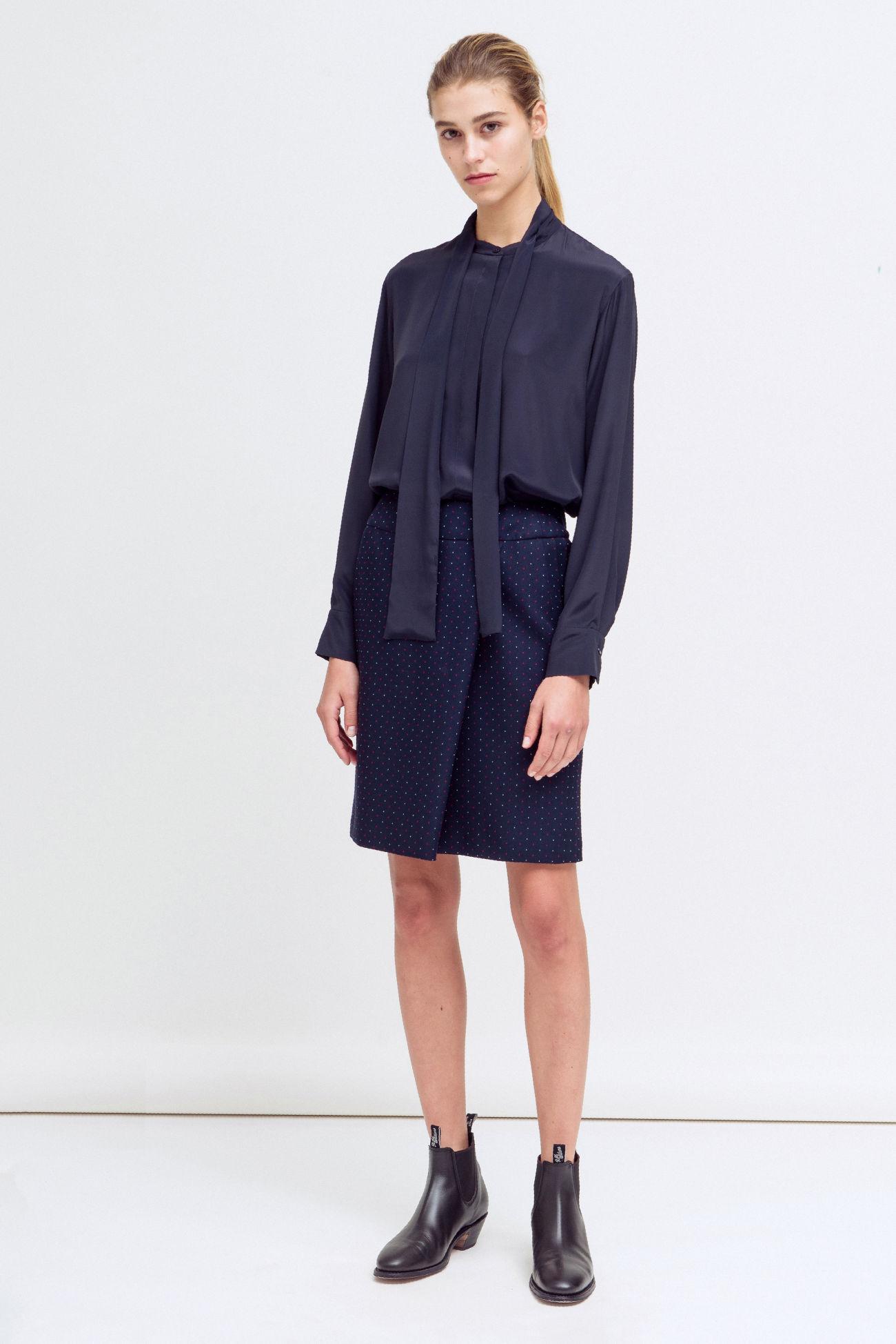 Skirt in mini dot jacquard