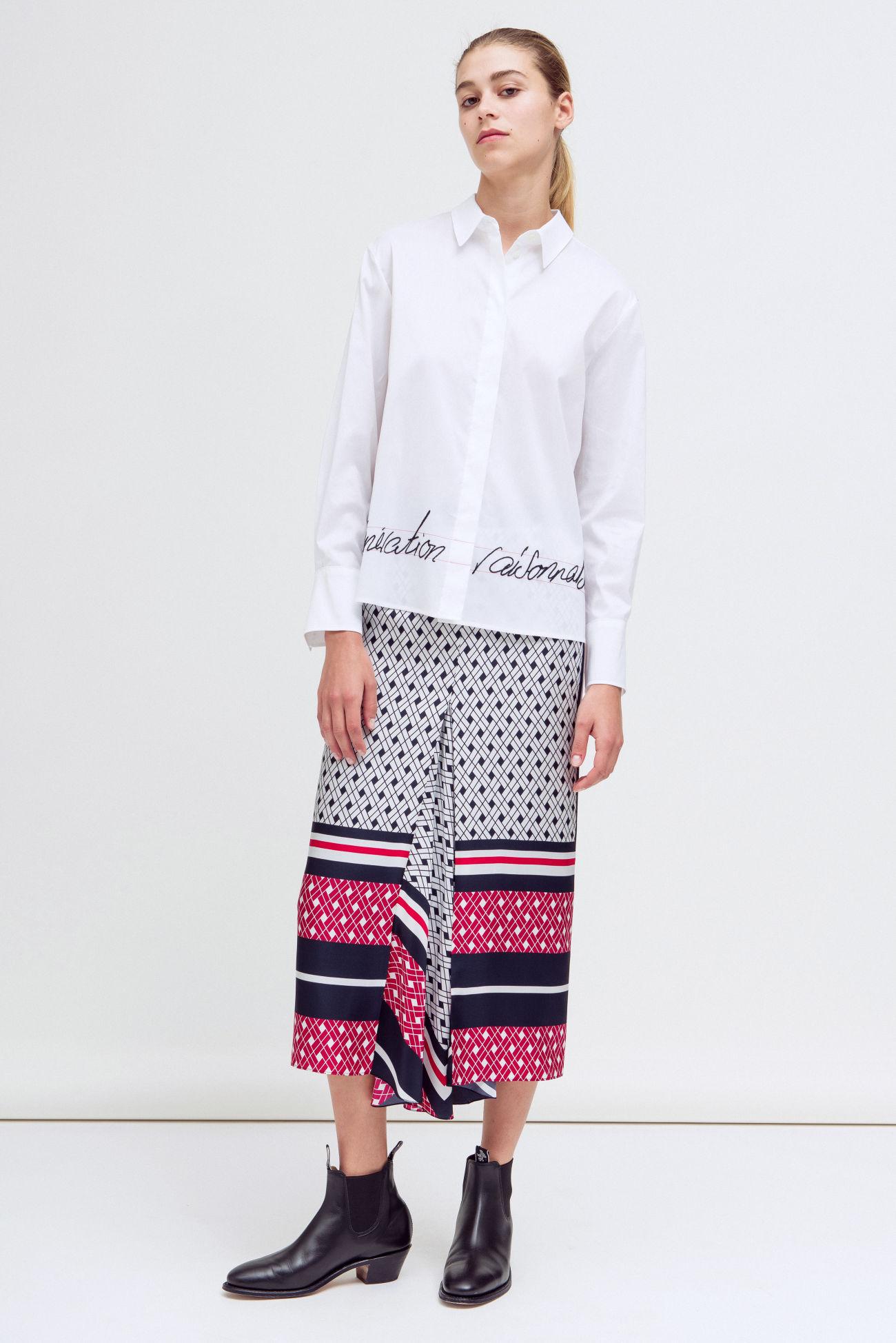 Skirt with Carré print