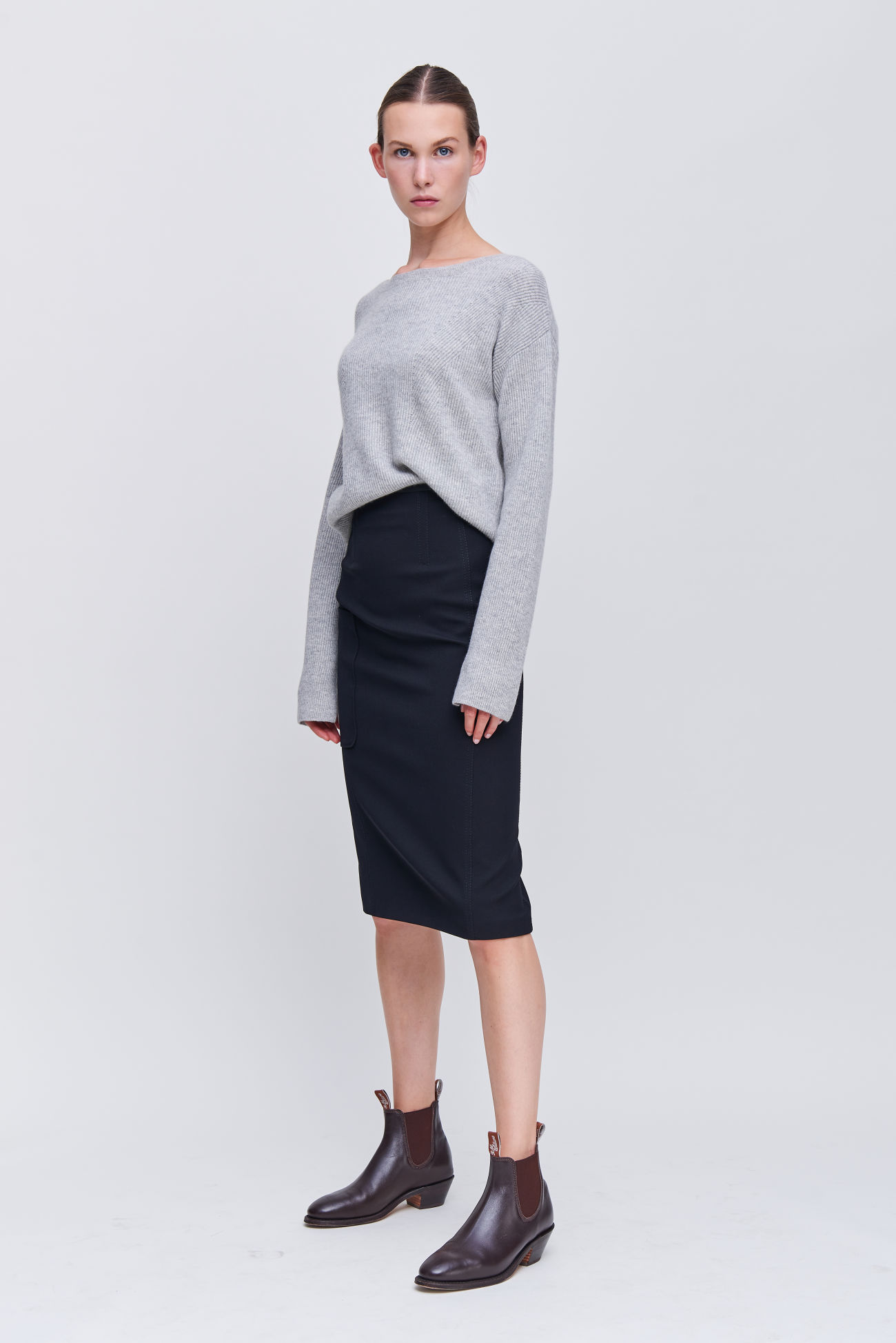 Cavalry twill skirt