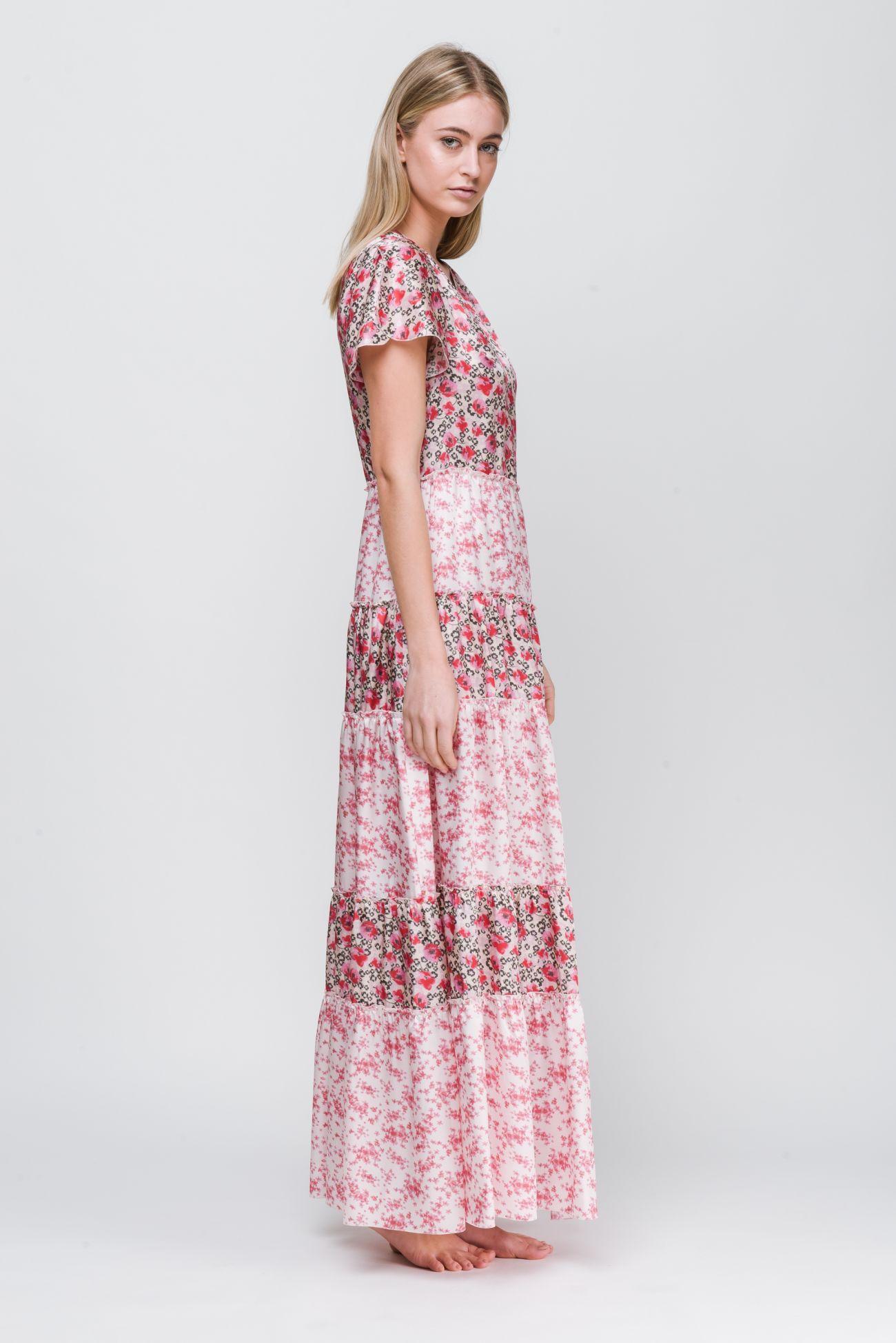 Maxi-Kleid aus Seidenmix