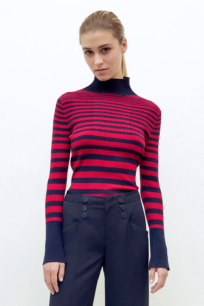 Pullover in Ripp