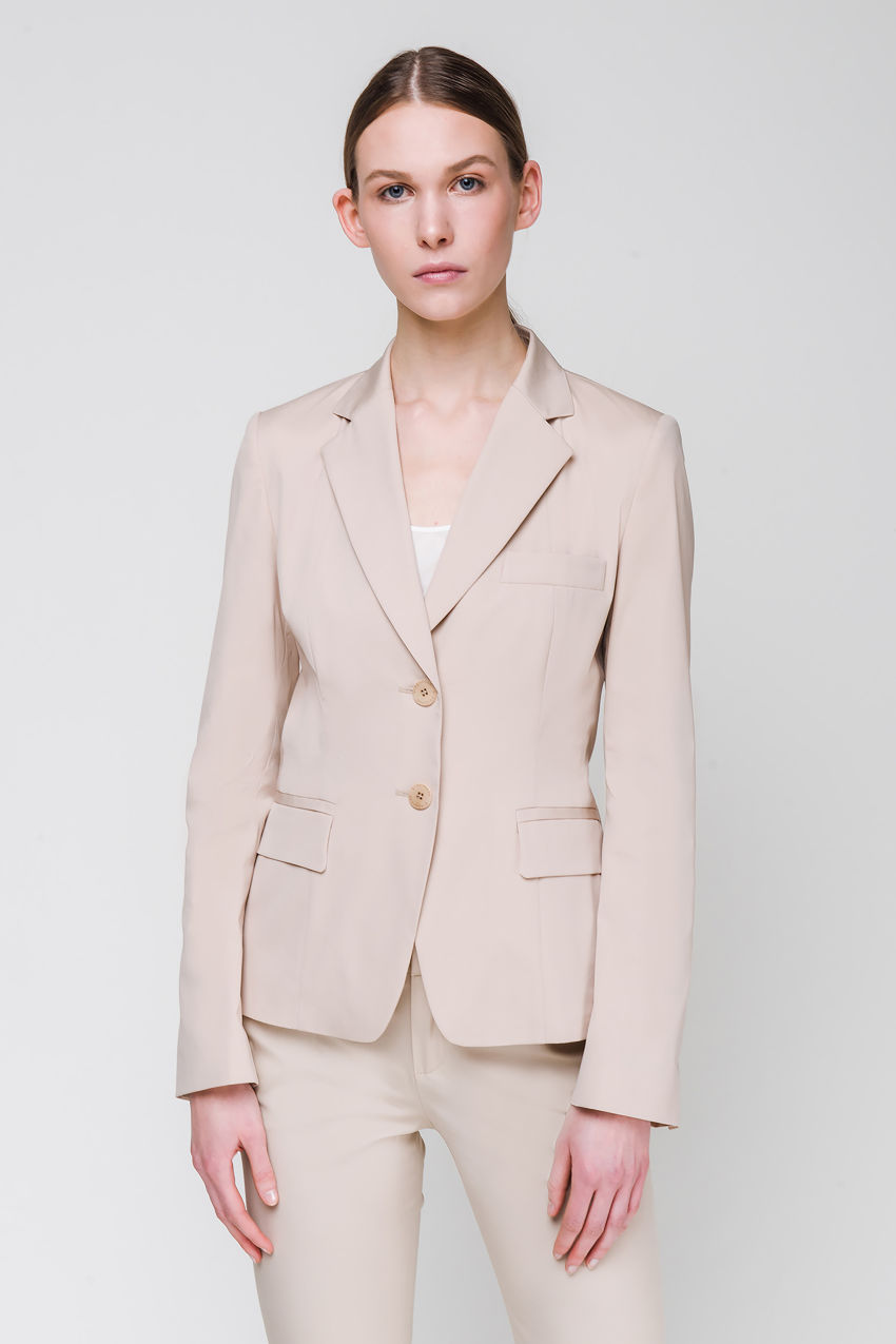 Blazer aus Popelin-Stretch
