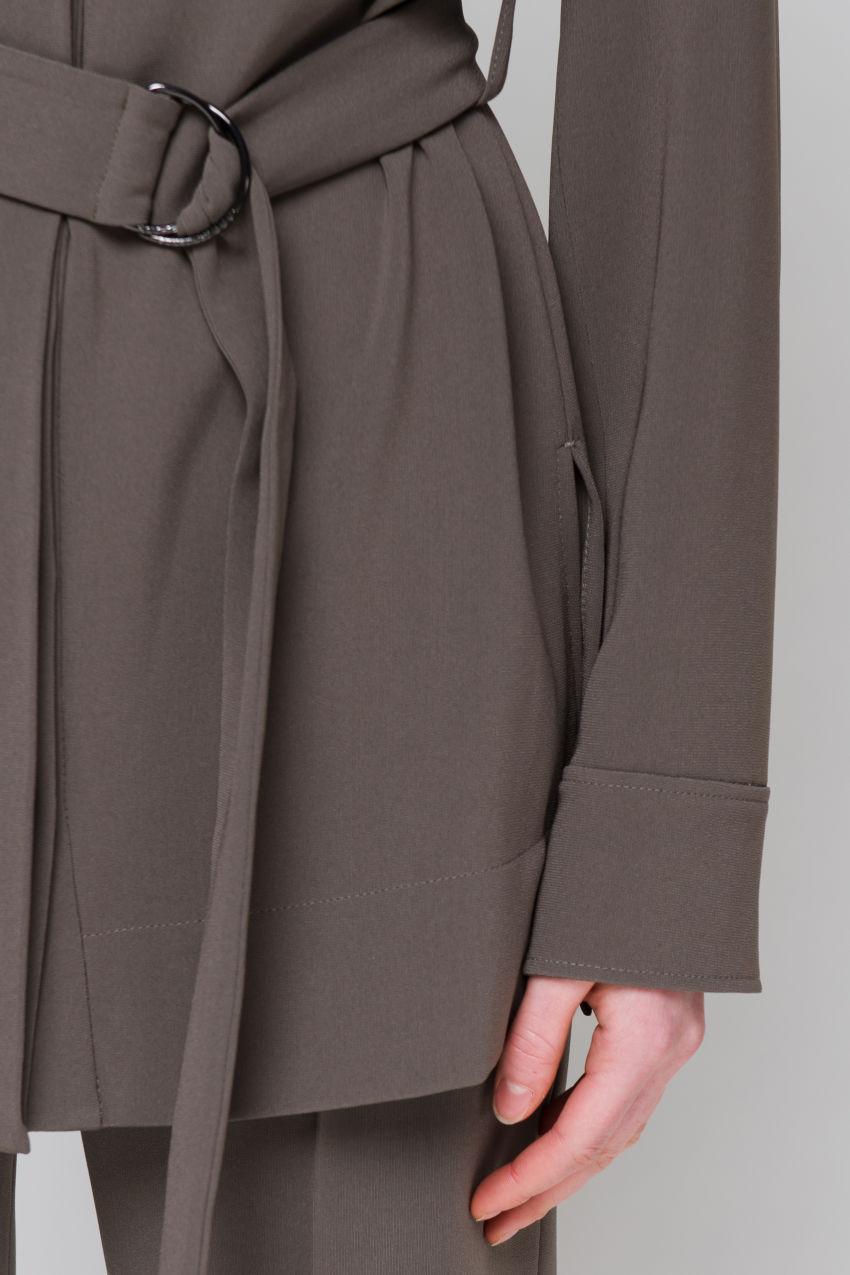 Leichte Jacke aus Crêpe