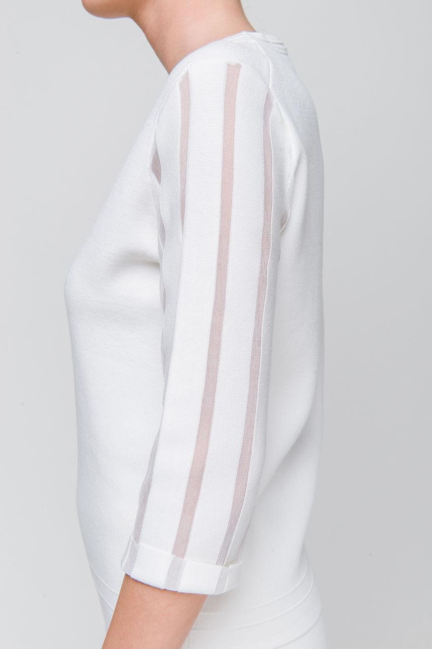 Pullover mit Transparenz