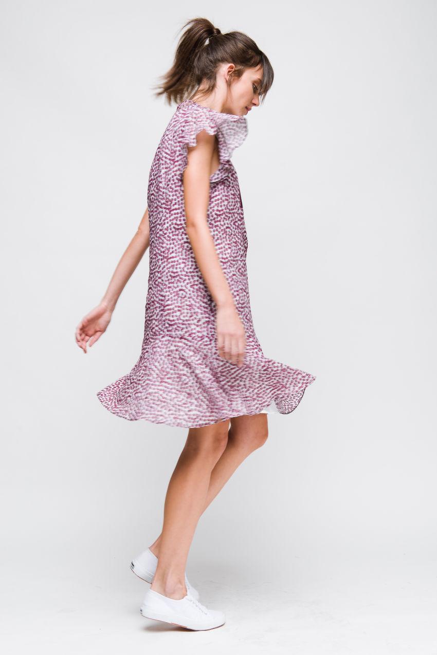 Kleid aus Baumwolle-Voile