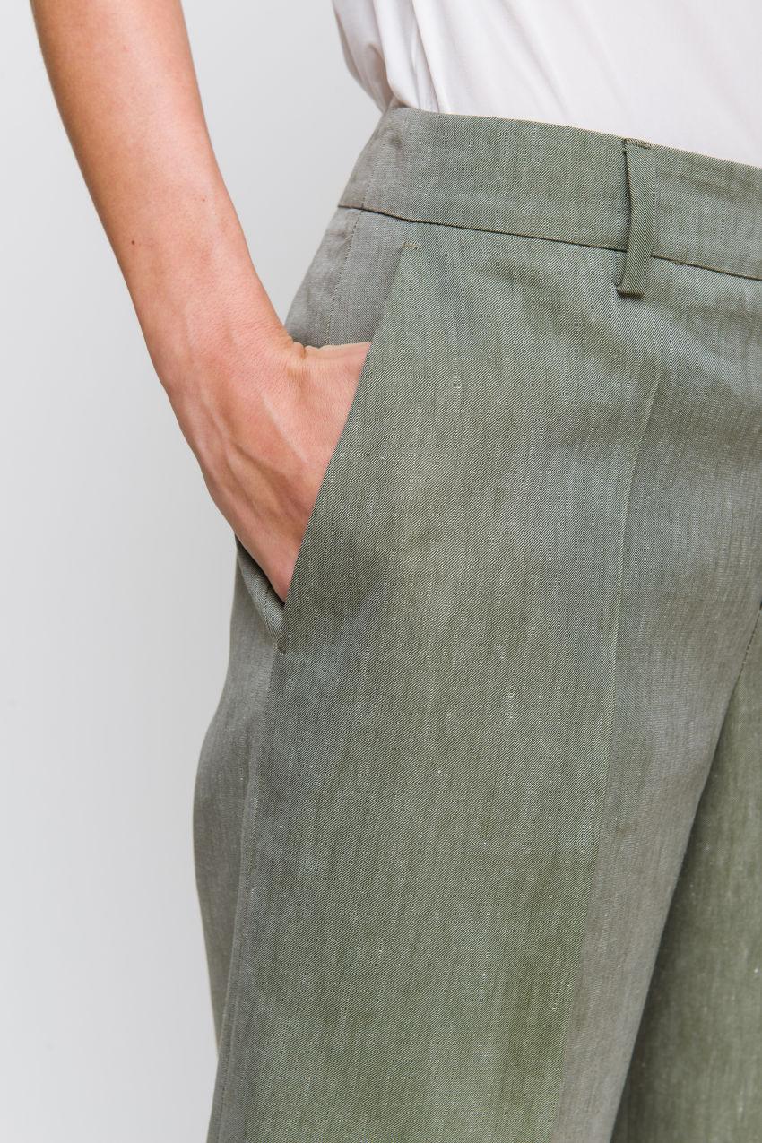 ¾ Hose aus Leinen-Mix