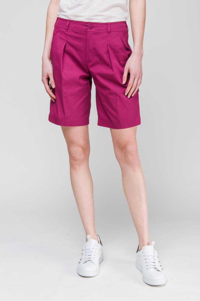 Shorts aus Popelin Stretch