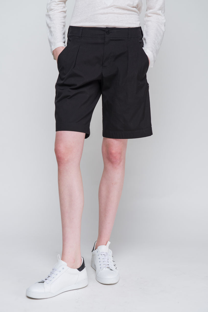Shorts aus Popelin Stretch