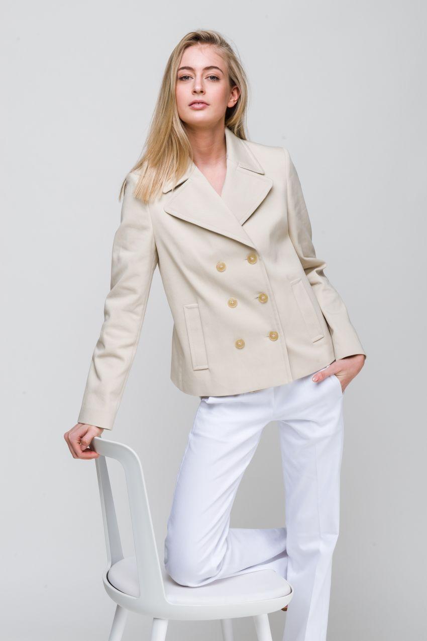 Jacke aus Baumwoll-Twill