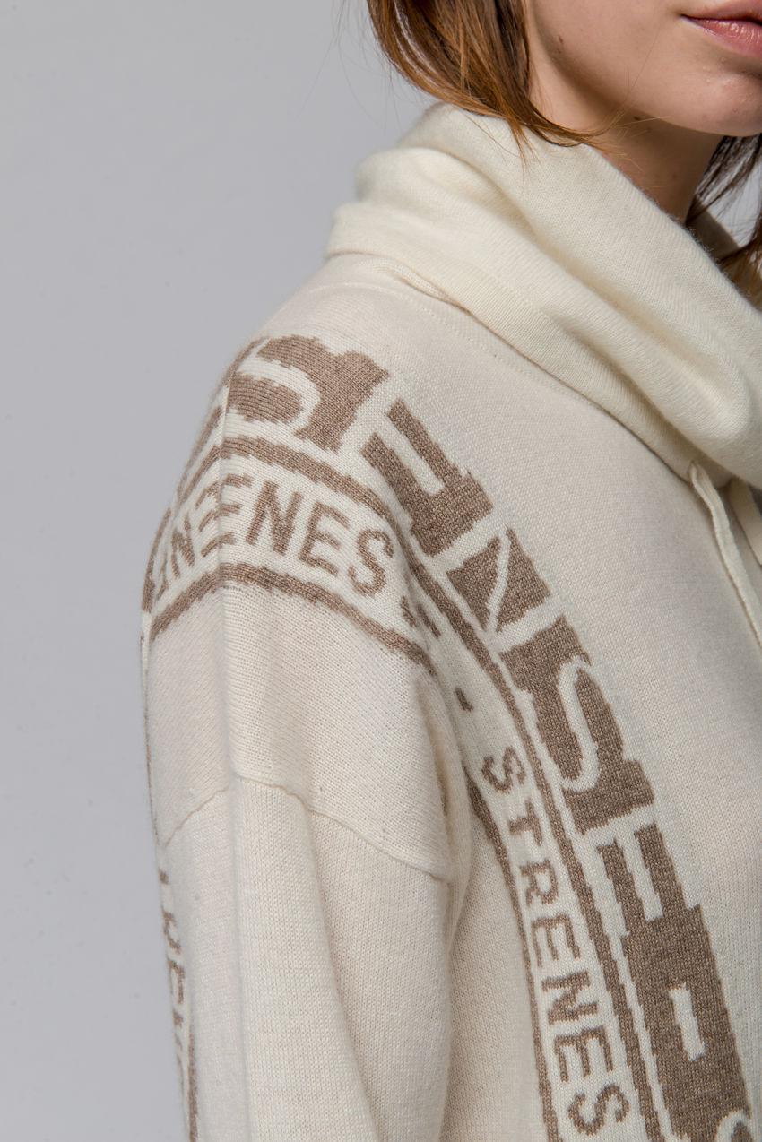 Logo-Hoodie aus Kaschmir