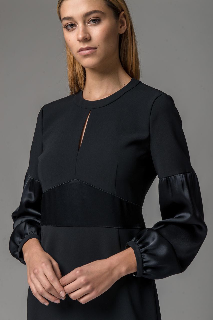 Kleid aus Travel Crêpe