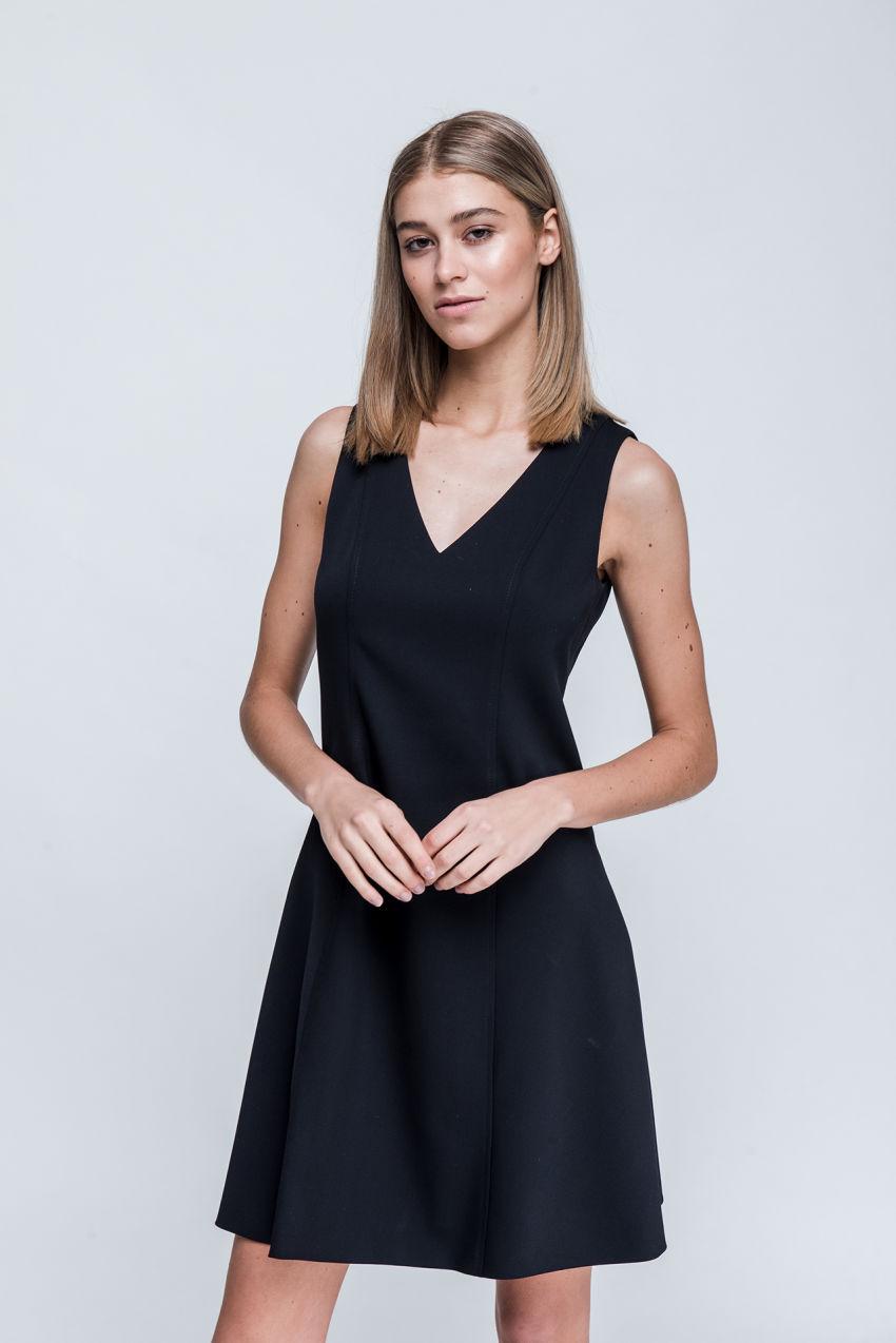 Kleid aus Grain de Poudre