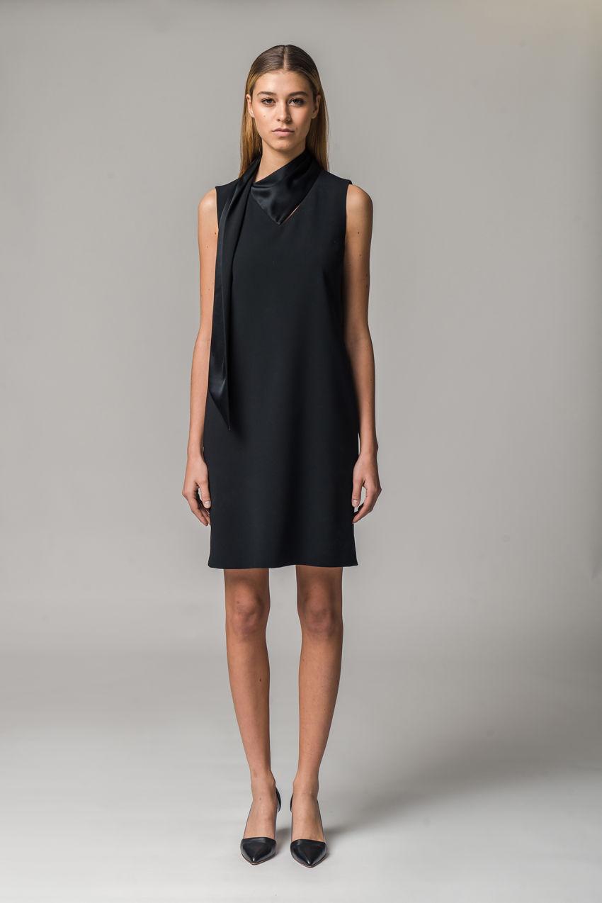 Kleid aus Travel-Crêpe