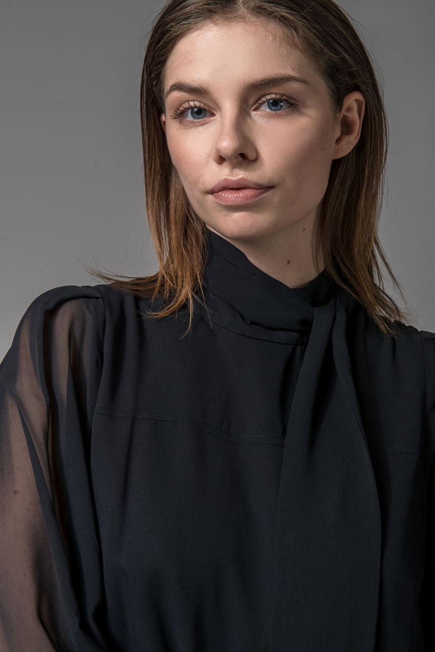 Bluse aus Seiden Georgette