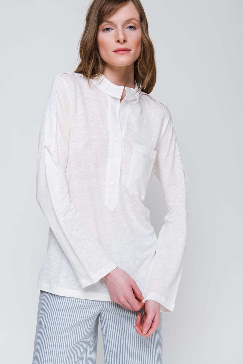 Shirt mit Voile Patches