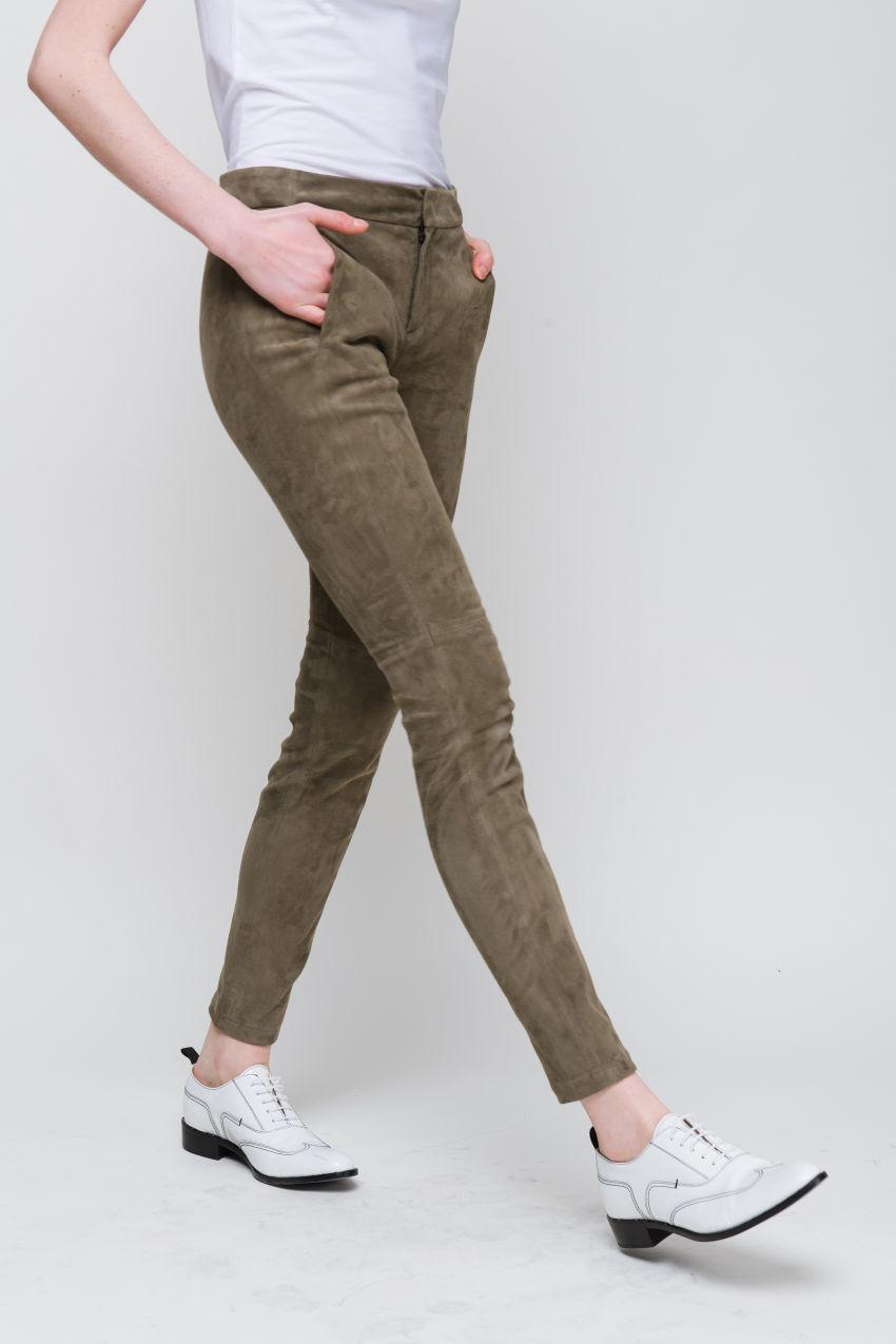 Skinny Hose aus Lammleder
