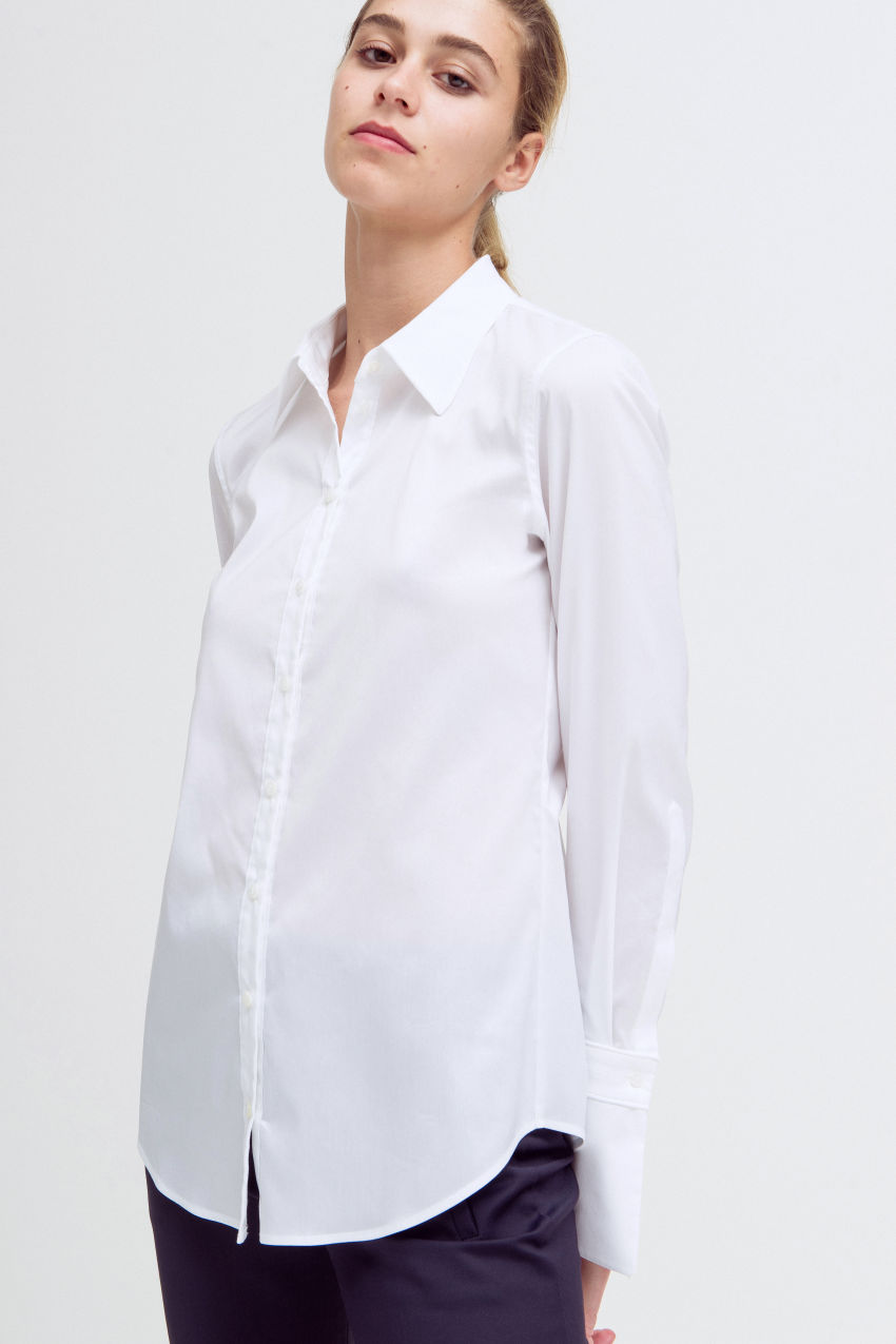 Klassische Hemdbluse