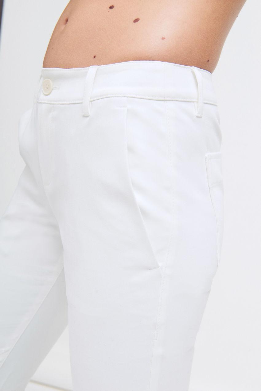 Hose aus Popelin-Stretch
