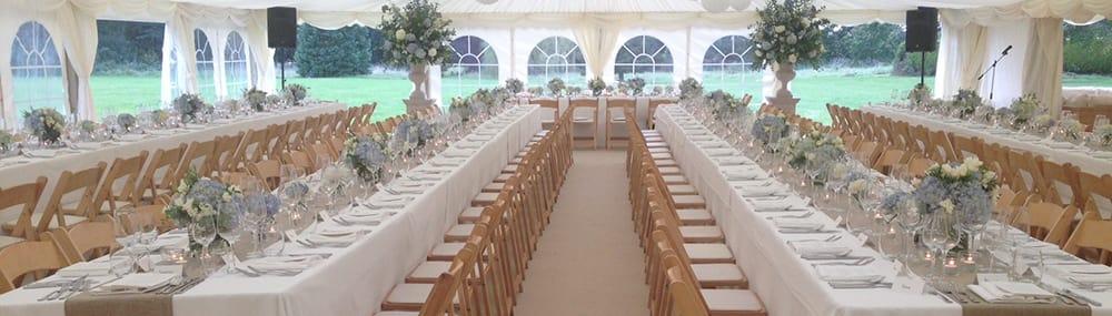 tables white wedding