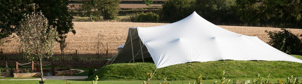 stretch tent adapting to any landscape